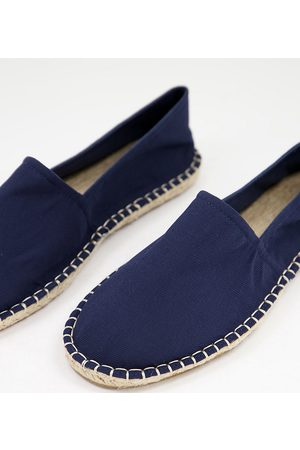 ASOS DESIGN Wide Fit espadrilles in navy twill canvas
