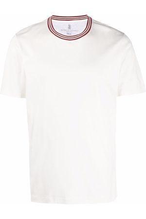 Brunello Cucinelli Contrast-trim short sleeve T-shirt