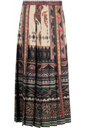 Etro Ženy S potiskem - Geometric-print pleated skirt