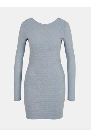 Tally Weijl Modrošedé pouzdrové šaty
