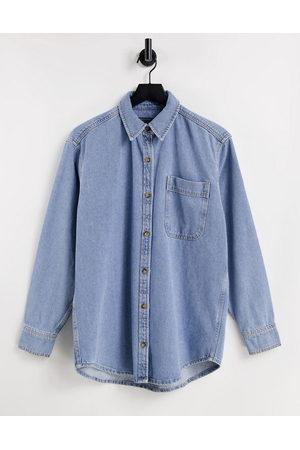 ASOS Ženy Džínové košile - Denim 'original' shirt in midwash-Blue