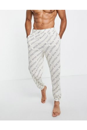 ASOS Lounge oversized joggers with all over essential wear print-Multi