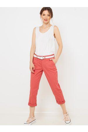 Camaïeu Růžové 3/4 straight fit kalhoty