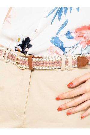 Camaïeu Růžový pletený pásek