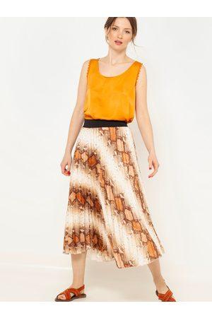Camaïeu Krémovo- vzorovaná plisovaná sukně