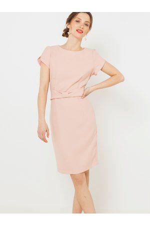 Camaïeu Světle růžové pouzdrové šaty