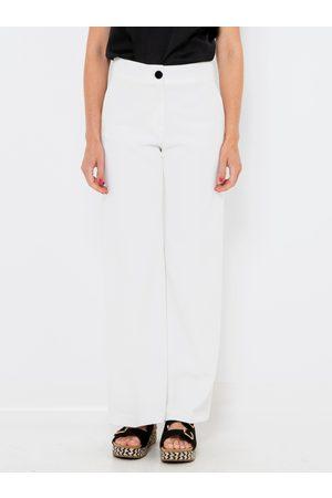 Camaïeu Bílé straight fit kalhoty