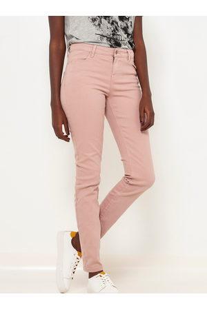 Camaïeu Starorůžové slim fit kalhoty
