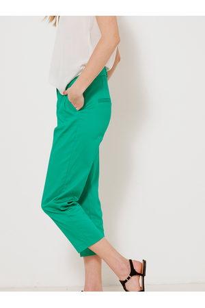 Camaïeu Zelené straight fit kalhoty