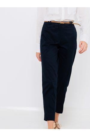Camaïeu Tmavě modré straight fit kalhoty