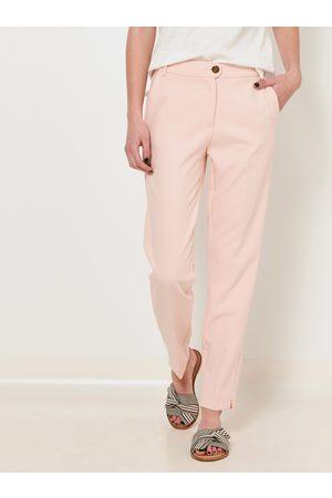 Camaïeu Světle růžové straight fit kalhoty