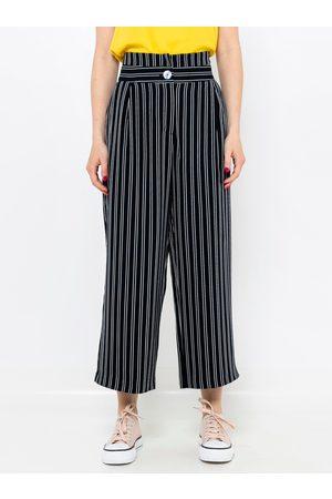 Camaïeu Černo-šedé pruhované culottes