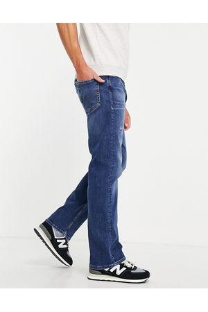 JACK & JONES Muži Rovné nohavice - Intelligence Cliff straight fit jean in vintage lightwash blue