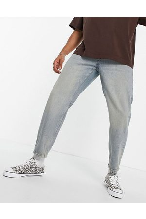 Topman Muži Rovné nohavice - Relaxed jeans in light wash with tint-Blue