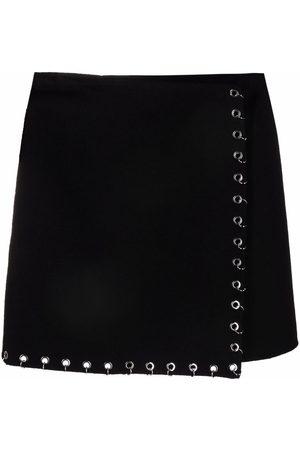 P.a.r.o.s.h. Hoop-trim wrap skirt