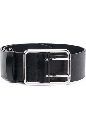 Alessandra Rich Wide leather buckle belt