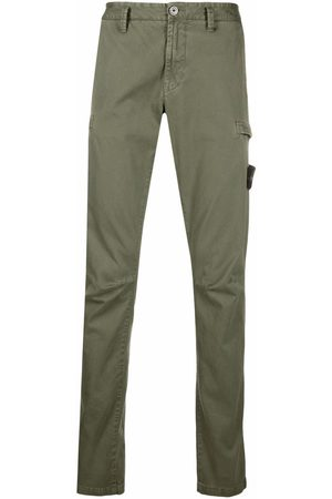 Stone Island Logo-patch straight-leg trousers