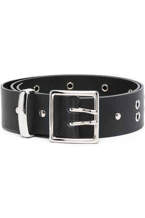Ami Eyelet-embellished belt