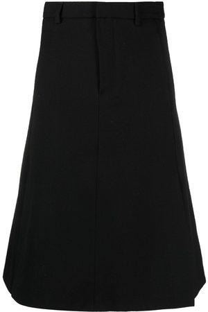 Ami High-waisted A-line skirt