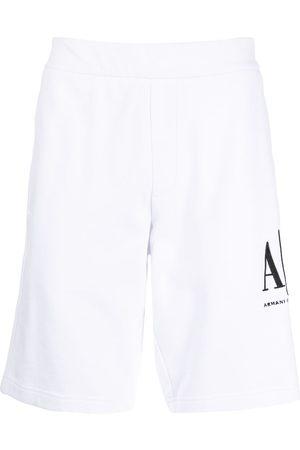 Armani Muži Kraťasy - Logo print track shorts