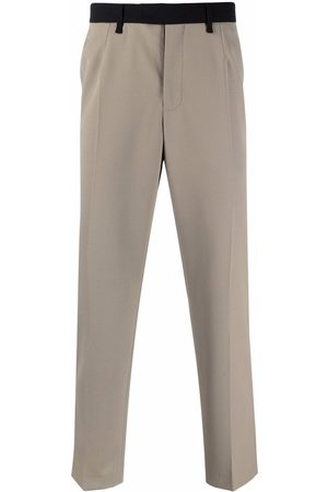 Karl Lagerfeld Muži Rovné nohavice - Contrasting-waistband trousers