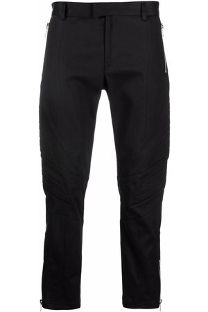 Les Hommes Ribbed-panel straight-leg trousers
