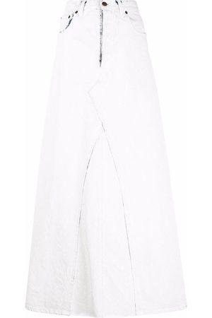 Maison Margiela High-waisted denim maxi skirt