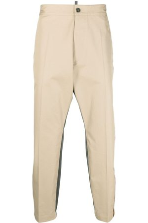 Dsquared2 Two-tone straight-leg trousers