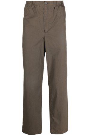 Kenzo Muži Rovné nohavice - Logo-patch straight-leg trousers