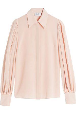 Victoria Victoria Beckham Ženy S dlouhým rukávem - Long-sleeve cotton shirt
