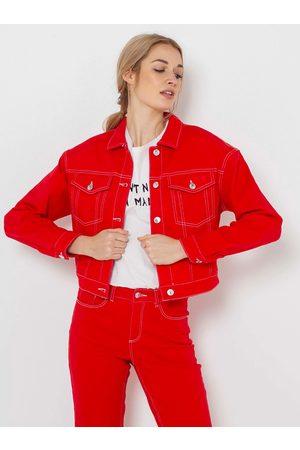 Camaïeu Červená džínová bunda