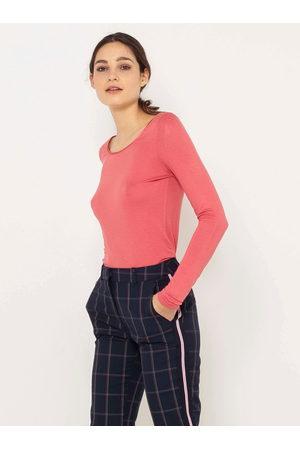 Camaïeu Růžové tričko s dlouhým rukávem