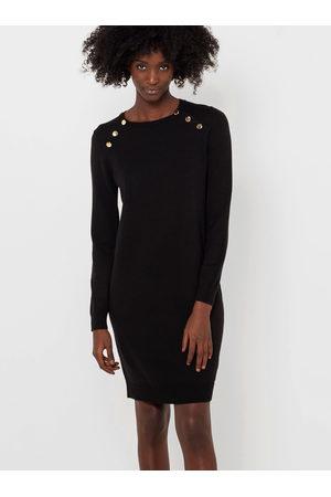 Camaïeu Černé svetrové pouzdrové šaty