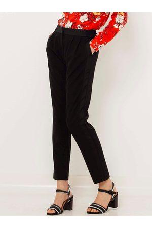 Camaïeu Černé straight fit kalhoty
