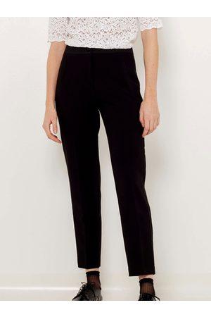Camaïeu Černé zkrácené straight fit kalhoty