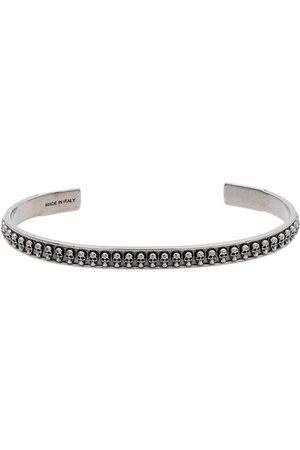 Alexander McQueen Silver skull motif bracelet
