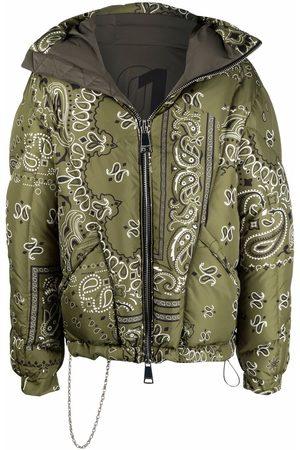 Khrisjoy Bandana-print hooded puffer jacket