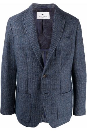 Etro Knitted single-breasted blazer