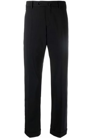 PT01 Jetted-pocket straight trousers