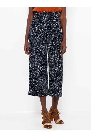 Camaïeu Černé puntíkované culottes