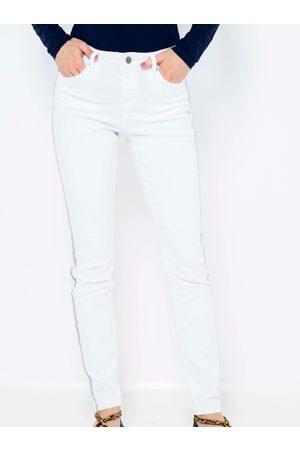 Camaïeu Bílé skinny fit kalhoty