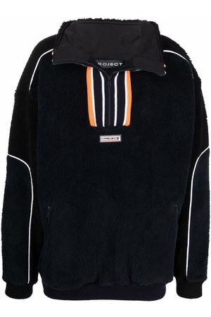 Y / PROJECT Logo-patch high-neck jumper