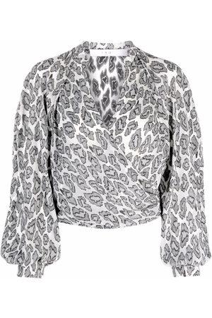 IRO Leopard-print wrap blouse