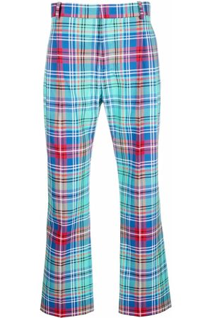 Charles Jeffrey Loverboy High-waisted tartan trousers