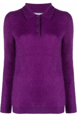 Prada Slim-fit button-placket knitted polo shirt