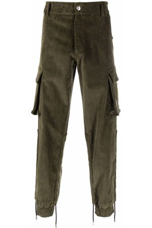 Gcds Corduroy stretch-cotton cargo trousers