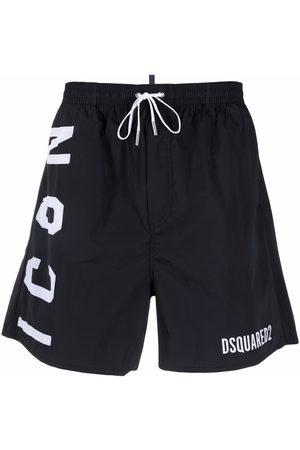 Dsquared2 Logo-print drawstring-waist swim shorts