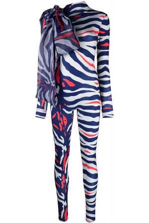 Atu Body Couture Animal-print bow-detail jumpsuit