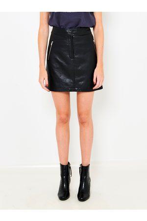 Camaïeu Černá koženková sukně