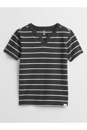 GAP Černé klučičí dětské tričko stripe t-shirt